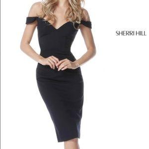 Sherri hill- off the shoulder